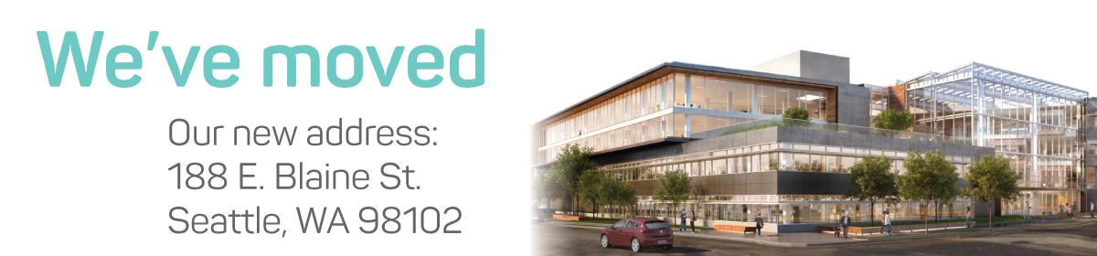 We've moved: 188 E. Blaine St., Seattle